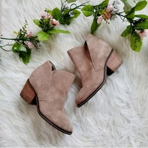 Jessica Simpson Taupe Tandra Ankle Booties
